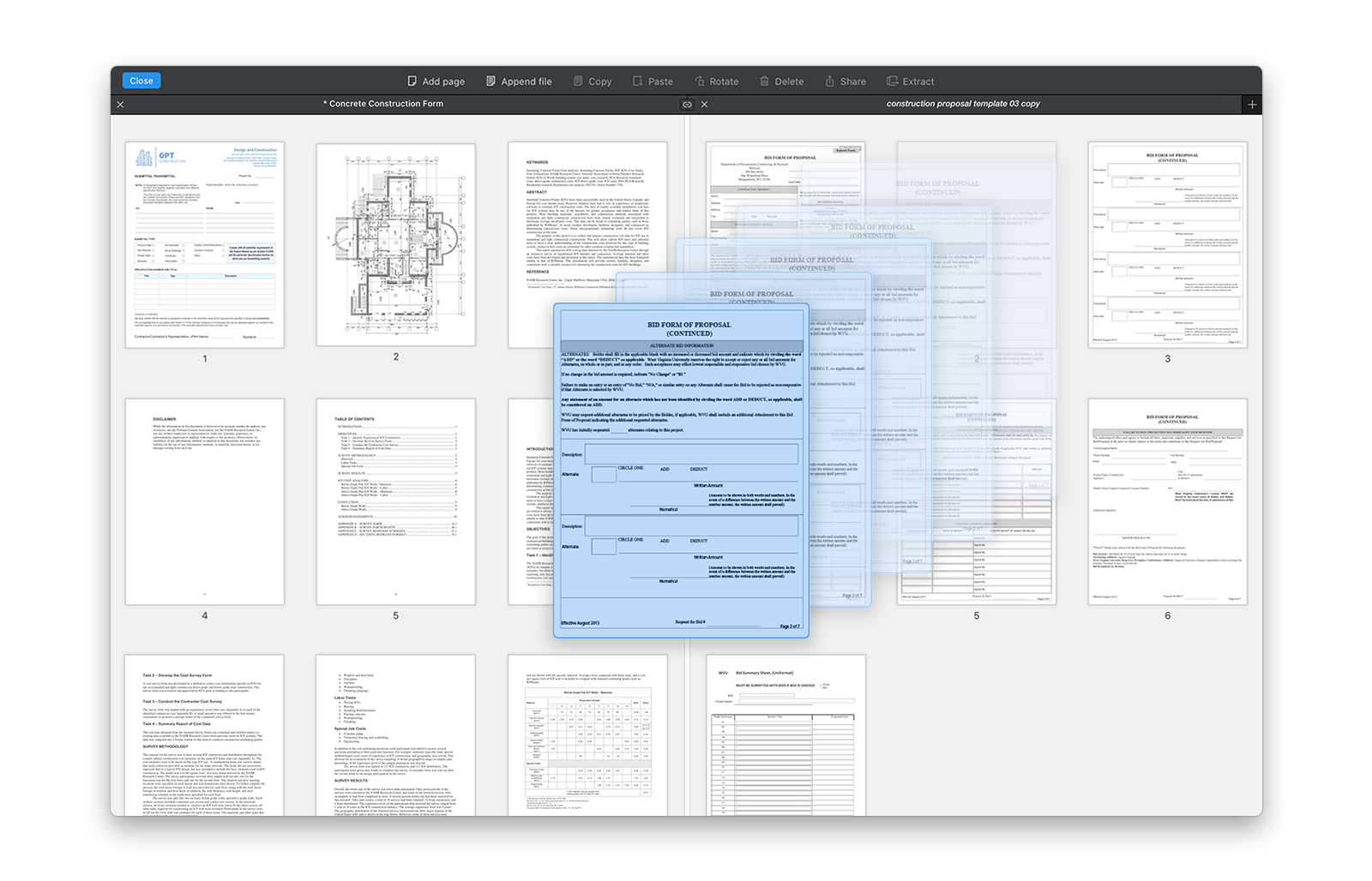 Merge PDF on Mac