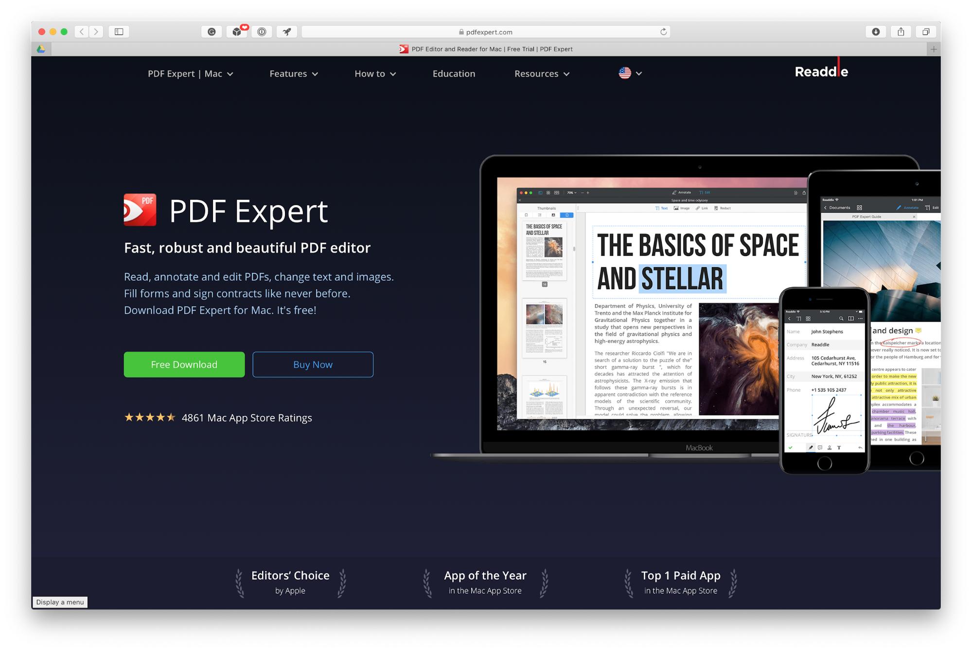 PDF Expert home page