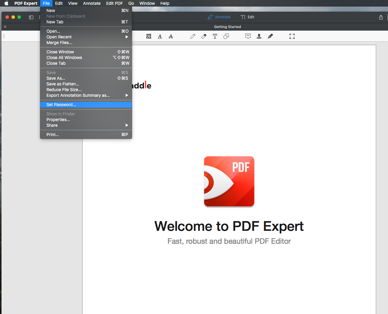 Protect your PDF file with a password  Editing PDFs   Help