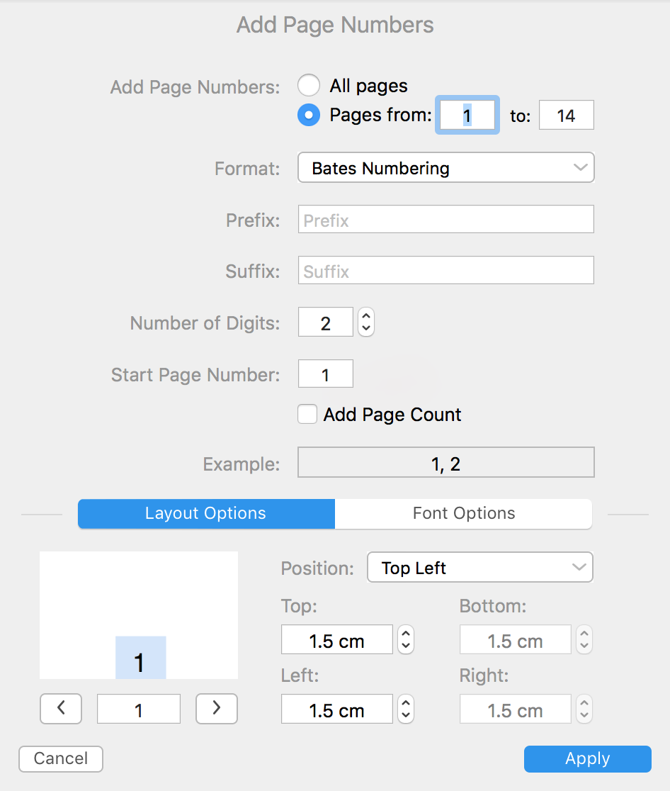 How to add Page Numbers to a PDF on Mac | PDF Expert