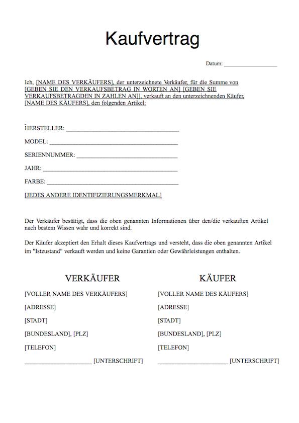 kaufvertrag auto download pdf