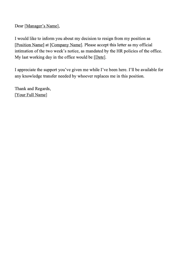 Professional Letter Of Resignation Sample Free from d3pbdh1dmixop.cloudfront.net