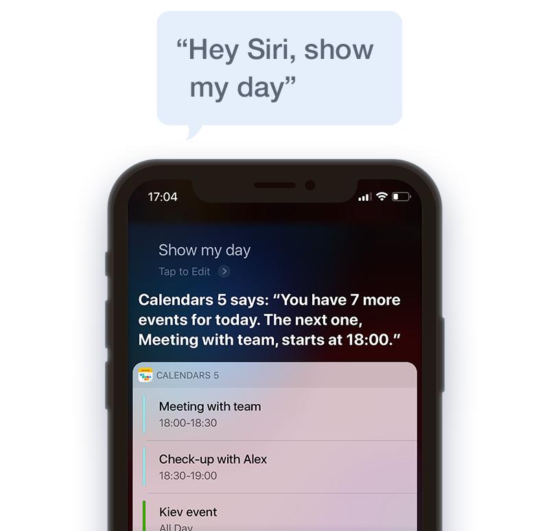 Calendars 5 adds Siri shortcuts and a Stunning Apple Watch app
