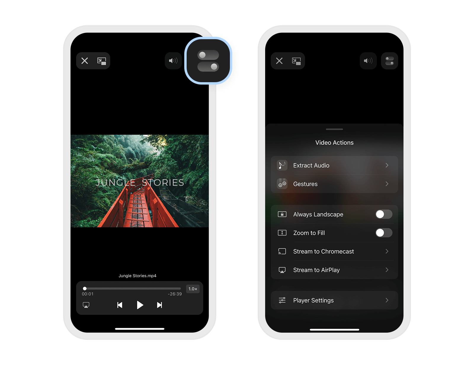 how to separate audio from video on iPhone and iPad