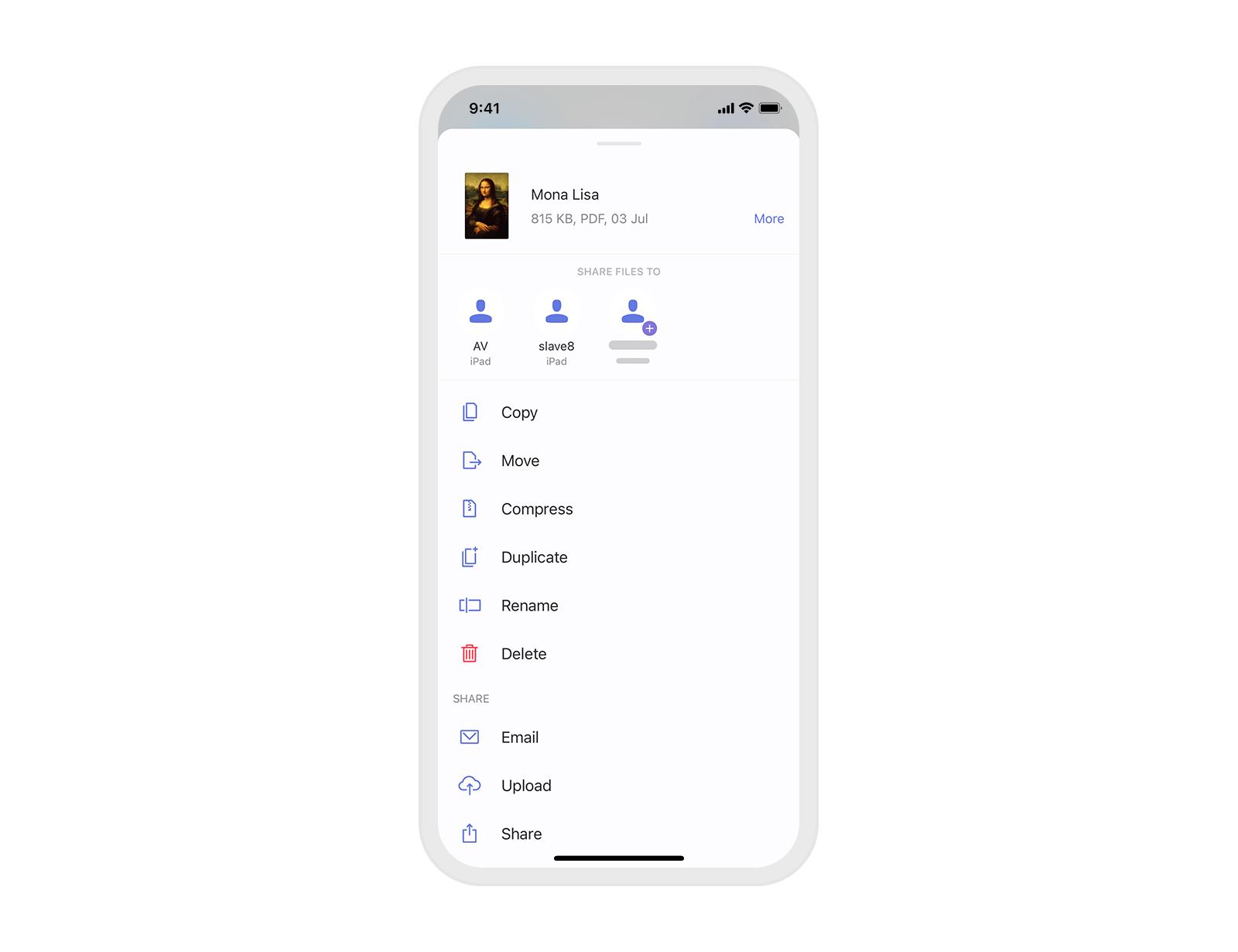 FileDrop on iPhone and iPad