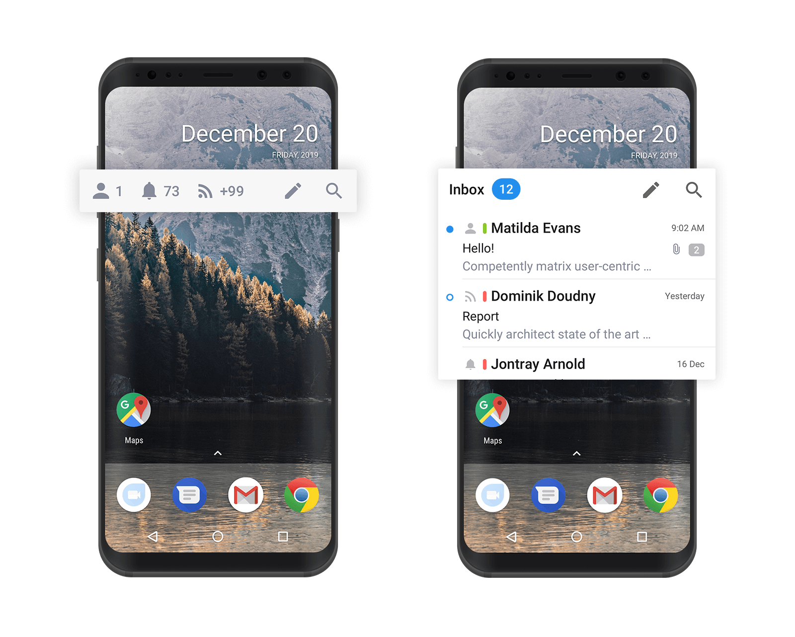 Home screen widgets in Spark