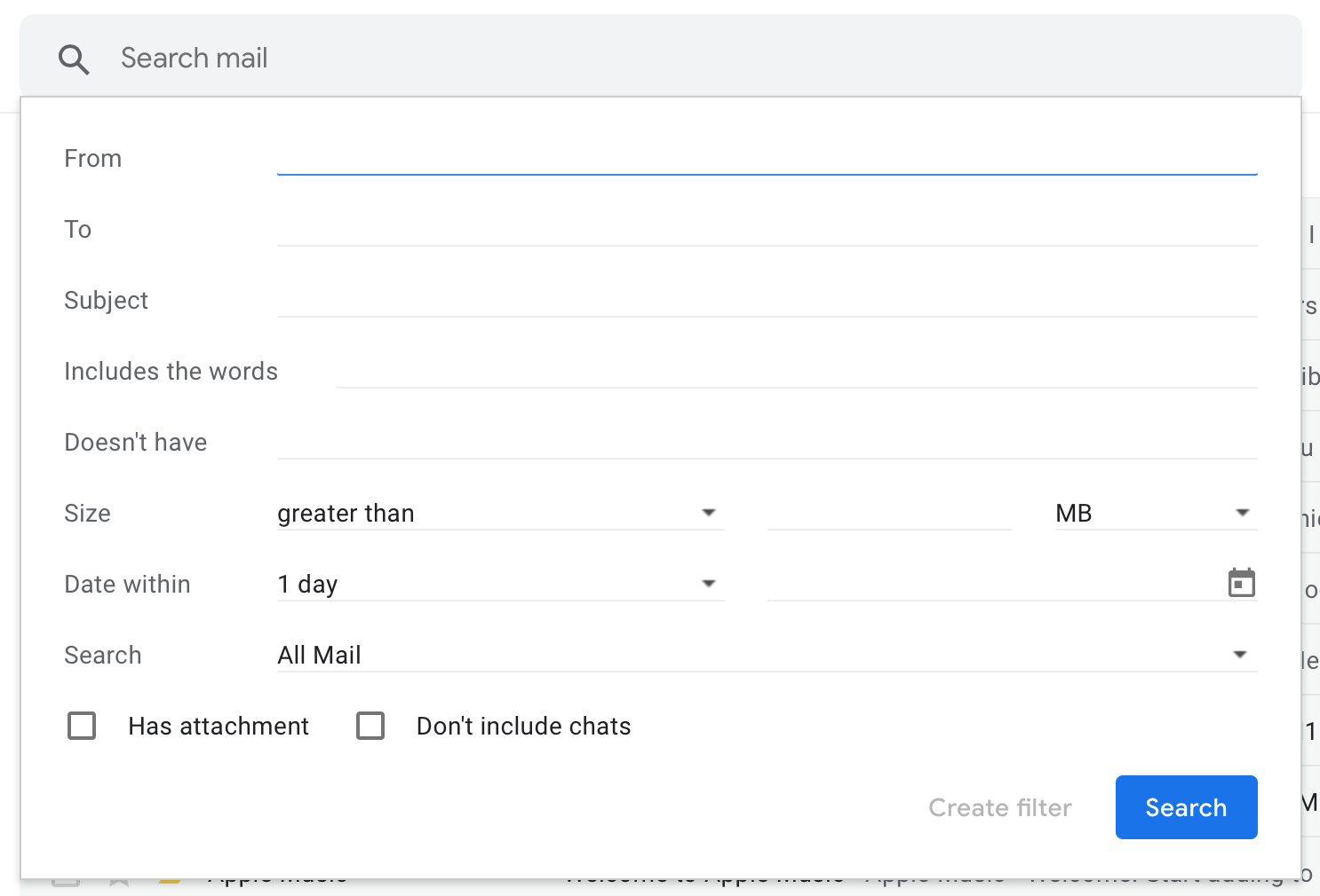 How to organize Gmail with filters screenshot