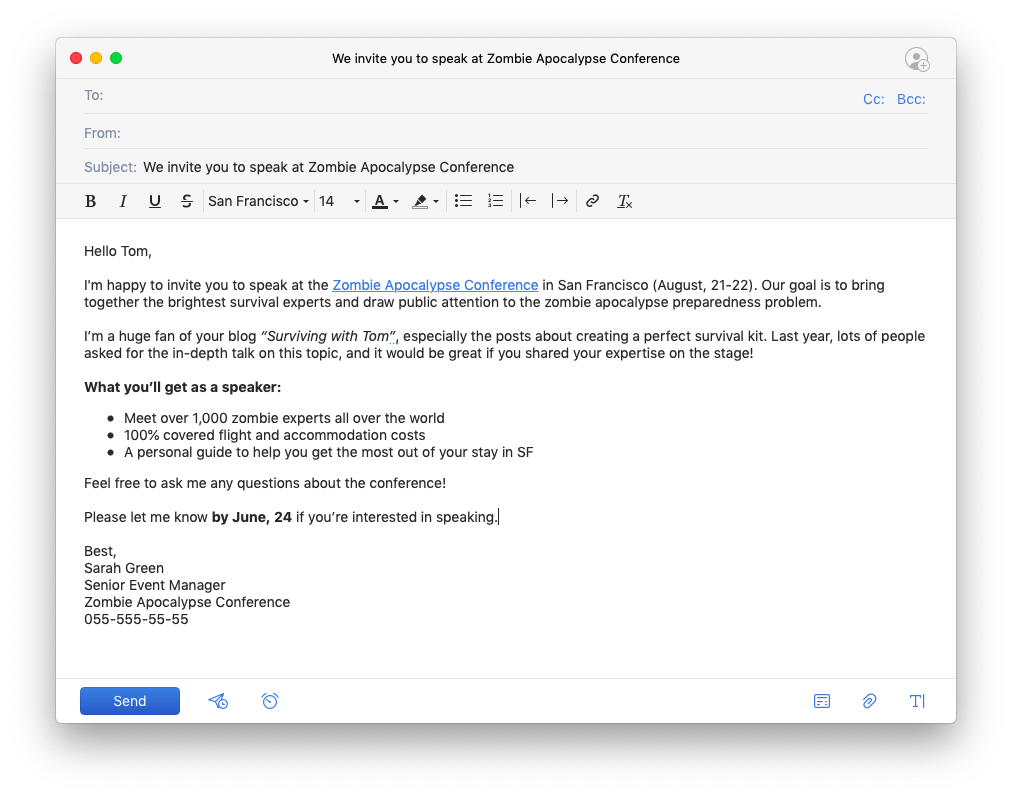 How to write a professional email | Examples | Spark Blog