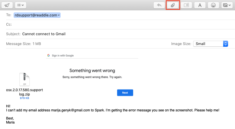 Cannot connect to a Gmail account | Spark Help Center