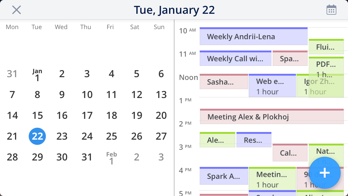 How to enable and view calendars | Spark Help Center